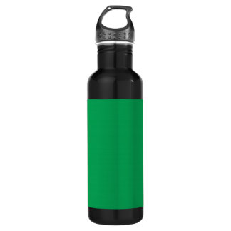 Grass Green Background on a Water Bottle