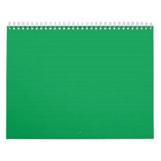 Grass Green Backgrounds on a Calendar