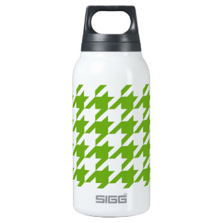Grass Green Houndstooth Thermos Water Bottle