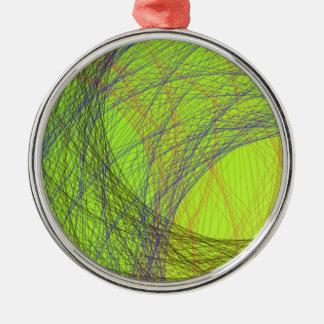 grass green light color abstract art metal ornament