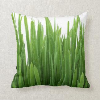Grass Green Throw Pillow
