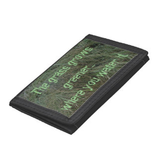 Grass Grows Greener Trifold Wallet