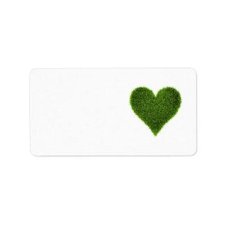 Grass Heart Label