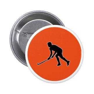 Grass Hockey Player Button