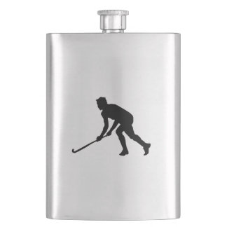 Grass Hockey Player Hip Flask