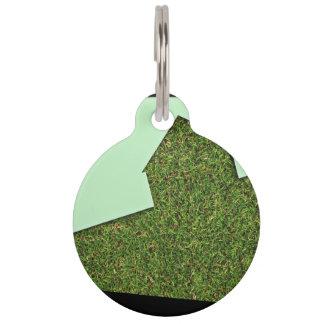Grass House Design Pet Tag