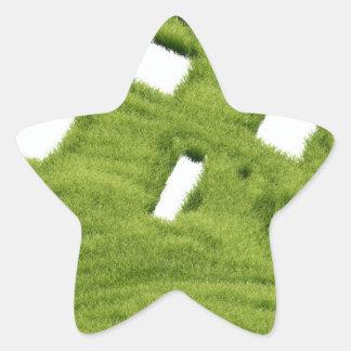 Grass house star sticker