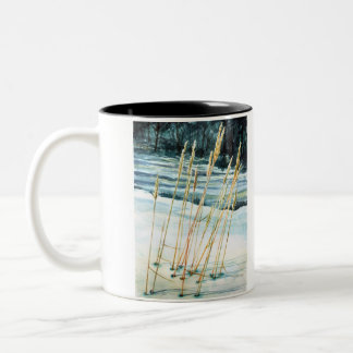 Grass in the snow mugs