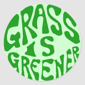 Grass is Greener Classic Round Sticker