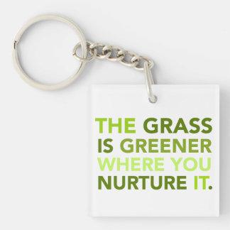 Grass Is Greener Keychain