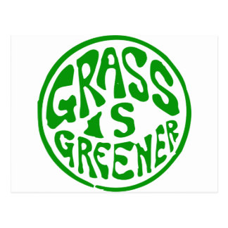 Grass is Greener Postcard