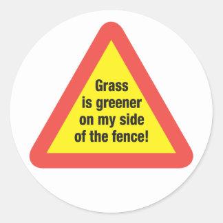 Grass Is Greener Sticker