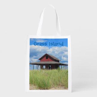 Grass Island Market Bag Reusable Grocery Bag