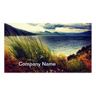 Grass Lake Dark Blue Clouds Business Card