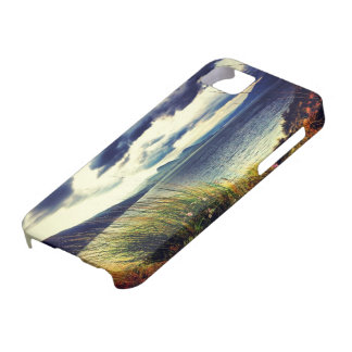 Grass Lake Dark Blue Clouds iphone 5 Case