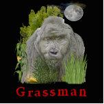 Grass man cutout