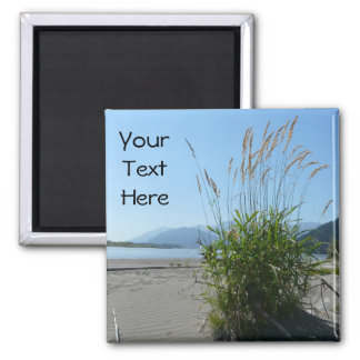 Grass on the Beach 2 Inch Square Magnet