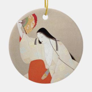 Grass paper washing beauty ceramic ornament