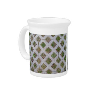 Grass Paver With Checkered Pattern Pitcher