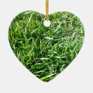 Grass Photo Design Ceramic Ornament
