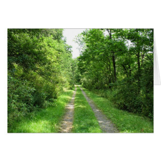 Grass Road into Woods Card