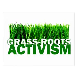 GRASS-ROOTS ACTIVISM POSTCARD