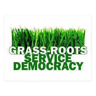 GRASS-ROOTS SERVICE DEMOCRACY POSTCARD