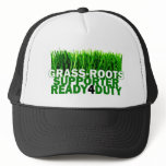 GRASS-ROOTS SUPPORTER READY 4 DUTY TRUCKER HAT