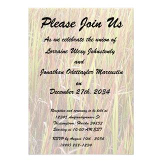 Grass sawgrass background florida plant personalized invitations