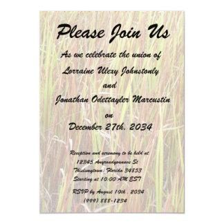"Grass sawgrass background florida plant 5"" x 7"" invitation card"