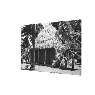 Grass Shack on Beach - Hawaii Island Canvas Print