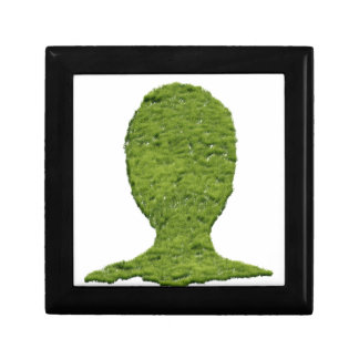 Grass shaped human head keepsake box