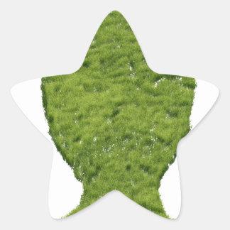 Grass shaped human head star sticker