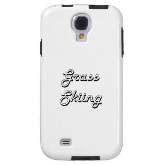 Grass Skiing Classic Retro Design Galaxy S4 Case