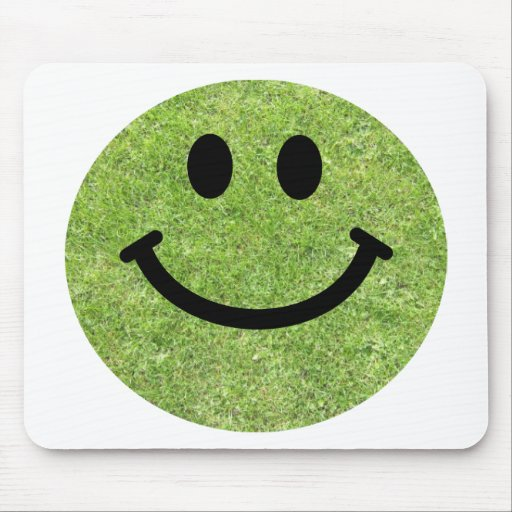 Grass Smiley Mouse Pad