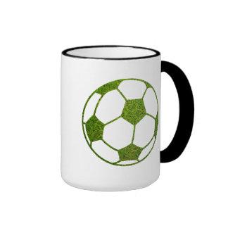 Grass Soccer Ball Ringer Mug
