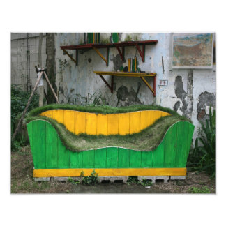 Grass sofa photo art