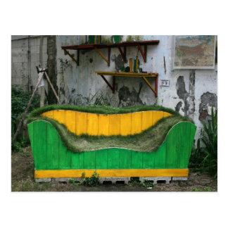 Grass sofa postcard