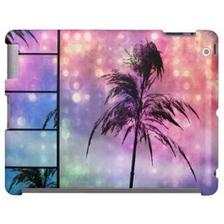 Grass Sparkle Purple, Pink N Blue iPad Case