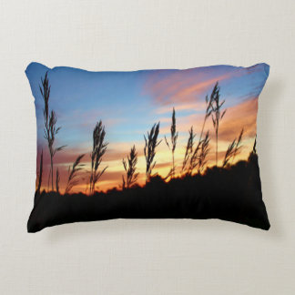 Grass Standing Tall – Early Morning Sunrise Decorative Pillow
