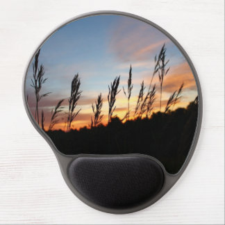 Grass Standing Tall - Early Morning Sunrise Gel Mouse Pad