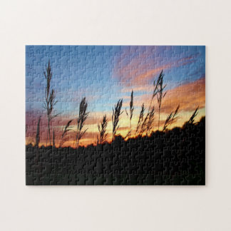 Grass Standing Tall – Early Morning Sunrise Jigsaw Puzzle