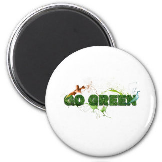 Grass textured go green magnet