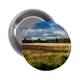 Grass Themed, A Field Mostly Covered With Dry Gras 2 Inch Round Button