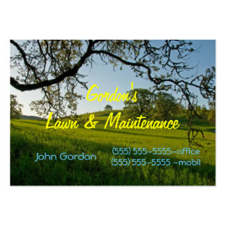 Grass-Tree s-Lawn Service or Cemetary Business Card Templates
