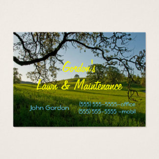 Grass-Tree's-Lawn Service or Cemetary Business Card