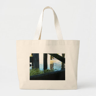Grass Under Harbor Tote Bags