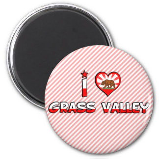 Grass Valley, CA Fridge Magnet