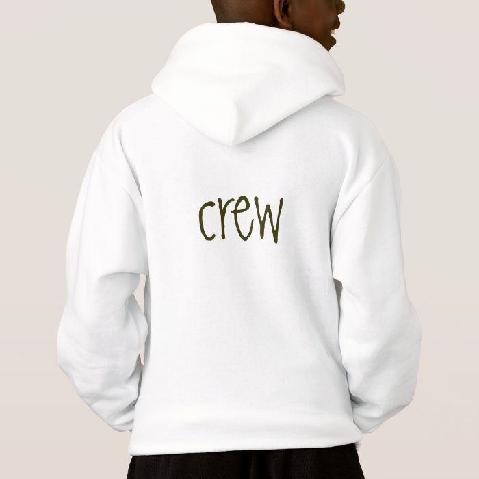 """Grass Valley Charter Hoodie """"crew"""" on back (kids)"""