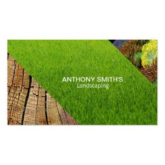 Grass, Wood, Garden Business Card